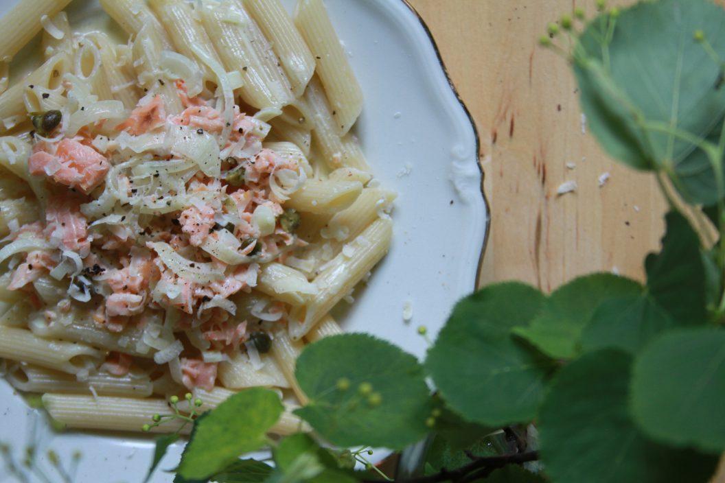 Rezept Pasta mit Lachs
