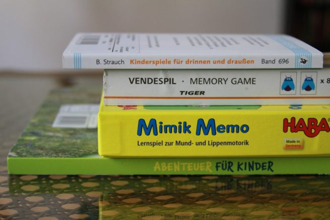 Antilangeweilebeutel Mimik Memo Game